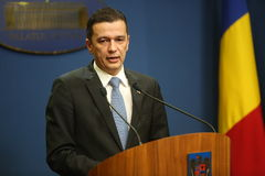 Romanian Prime Minister Sorin Grindeanu Royalty Free Stock Images