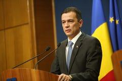 Romanian Prime Minister Sorin Grindeanu Stock Photography