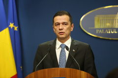 Romanian Prime Minister Sorin Grindeanu Royalty Free Stock Photography
