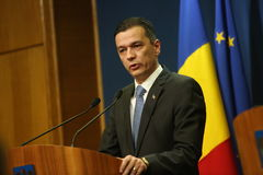 Romanian Prime Minister Sorin Grindeanu Royalty Free Stock Photos