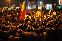 Romanian Protest 19/01/2012 5 - Obraz Royalty Free
