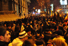 Romanian Protest 19/01/2012 7 - Obraz Royalty Free