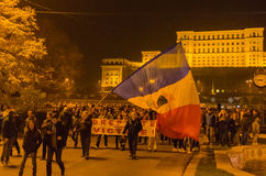 Romanian Protest 04/11/2015 Stock Photo