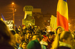 Romanian Protest 04/11/2015 Stock Image