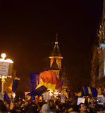 Romanian protesters in Timisoara Royalty Free Stock Images