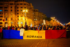 Romanian protests, Bucharest, Romania Royalty Free Stock Image