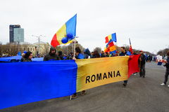Romanian protests on 54 day, Bucharest, Romania Stock Images