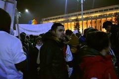 Romanian protests Stock Photos