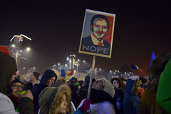 Romanian protests Stock Photography