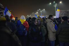 Romanian protests Royalty Free Stock Photos