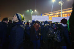 Romanian protests Stock Photo