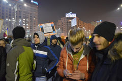 Romanian protests Royalty Free Stock Images
