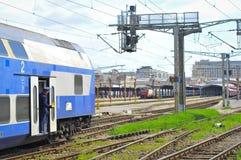 Romanian railways train Stock Photo