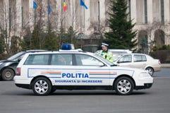 Romanian road police car Stock Photo