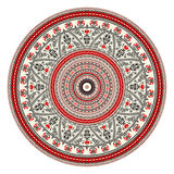 Romanian round element. Traditional Romanian round decorative element, folk art Royalty Free Stock Photo