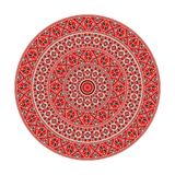 Romanian round element. Traditional Romanian round decorative element, vector template Stock Image