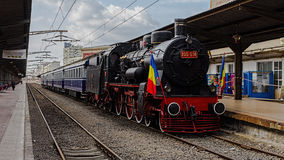 Romanian Royal Train. Open Air Museum. The train will be stationed and can be visited until Sunday April 13 at Bucharest, North Station (Gara de Nord). Was royalty free stock photography