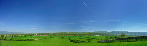 Romanian rural landscape. Panorama in summer Stock Image