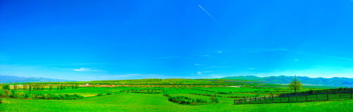 Romanian rural landscape. Panorama in summer Royalty Free Stock Image
