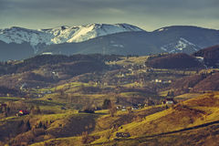 Romanian rural landscape Stock Images