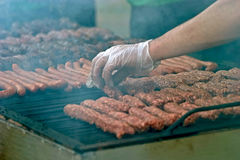 Romanian sausage Stock Images