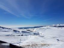 Romanian ski resort. Bucegi,Romanian mountains on Prahova Valley Royalty Free Stock Photography