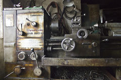 Romanian SNB320 lathe Royalty Free Stock Photography