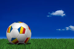 Romanian soccer ball Stock Photography