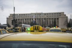 Romanian taxi drivers protest Royalty Free Stock Photography