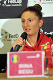 Romanian tennis player Irina Begu during a press conference Royalty Free Stock Photography