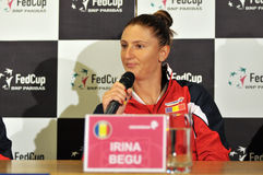 Romanian tennis player Irina Begu during a press conference Royalty Free Stock Image