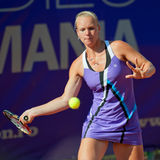 Romanian tennis player Madalina Gojnea in action Royalty Free Stock Photography