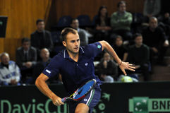 Romanian tennis player Marius Copil in action Stock Image