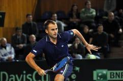 Romanian tennis player Marius Copil in action Stock Image