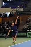 Romanian tennis player Marius Copil in action Stock Photo