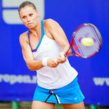 Romanian tennis player Sorana Carstea. BUCHAREST, ROMANIA - JULY 19: Romanian tennis player Sorana Carstea in action during BCR Open Ladies on July 19, 2011 in Stock Image