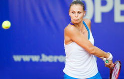 Romanian tennis player Sorana Carstea in action. During BCR Open Ladies on July 19, 2011 in Bucharest, Romania Royalty Free Stock Photography