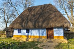 Romanian thatched rustic house Stock Images