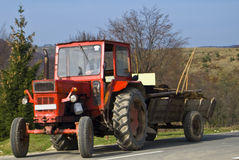 Romanian tractor royalty free stock photos