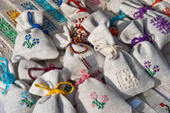Romanian tradition hand made purse (small) Stock Image