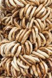 Romanian traditional bagels string Stock Images