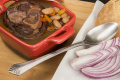 Romanian traditional bean soup Royalty Free Stock Photo