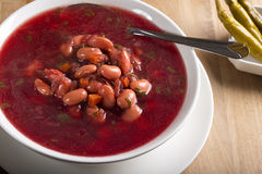 Romanian traditional beetroot soup Stock Photography