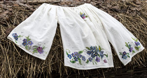 Romanian traditional blouse Royalty Free Stock Photo