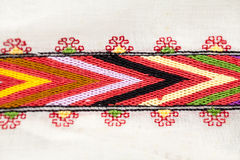 Romanian traditional blouse - textures and motifs Royalty Free Stock Photo