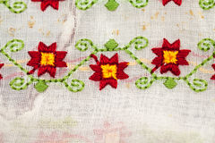 Romanian traditional blouse - textures and traditional motifs Royalty Free Stock Image