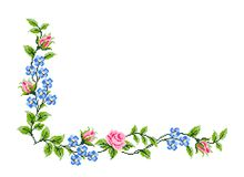 Romanian traditional border - cdr format. Traditional romanian floral border for pillows stock illustration
