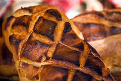 Romanian traditional bread with crust increases Royalty Free Stock Image