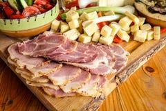 Romanian traditional breakfast food Stock Image
