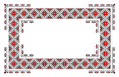 Romanian traditional carpet. Traditional romanian carpet with floral and geometrical motifs  in red and black Stock Photography